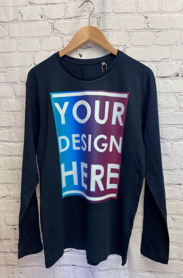 Long Sleeve Tee DTG Print in full colour